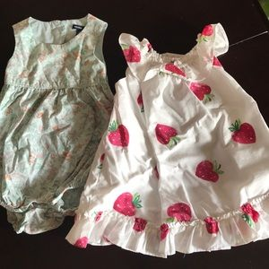 Gap baby romper and dress